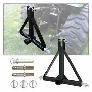 New 3 Point 2 Receiver Trailer Hitch Category 1 Tractor Tow Drawbar Adapter Us
