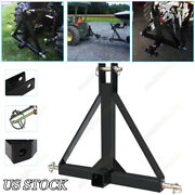 3 Point 2 Hitch Receiver Trailer Category Tow Hitch Drawbar Adapter 1 Tractor