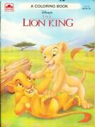 Coloring Book - Disney's The Lion King A Golden Book C1994 Western Pub Unused