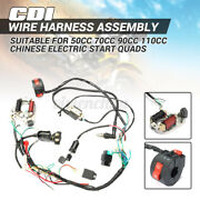 🔥 50 70 90 110 125cc Cdi Wire Wiring Harness Stator Assembly Atv Electric Quad