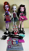Monster High Doll Lot Operetta Lagoona Blue Draculaura Clothes Shoes Brush Purse