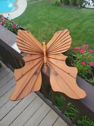 Vintage Signed Briggs Wooden Butterfly - 17 X 22