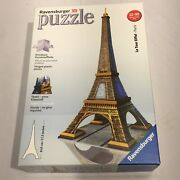 Ravensburger Eiffel Tower 3d Puzzle 216 Pieces 17.3 Tall Hinged Plastic No Glue