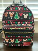 2019 Disney Parks Christmas Holiday Food Icons Snack Mini Loungefly Backpack