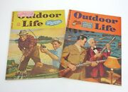 Vintage Outdoor Life Magazine - March And August 1944 - Kernan Cover - Sportsmen