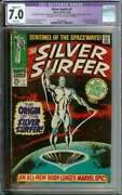 Silver Surfer 1 Cgc 7.0 White Pages // Origin Of Silver Surfer Marvel Comic1968