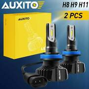 2x Auxito H11 Led 40w White Headlight Low Beam Bulb Kit For Ford Focus 2012-2018
