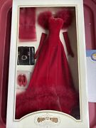 Franklin Mint Gwtw Gone With The Wind Scarlett O'hara Red Velvet Outfit Nrfb