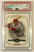 2012 Topps Museum Collection Mike Trout Green /199 Rookie Psa 9 Mint Pop 3 Rare