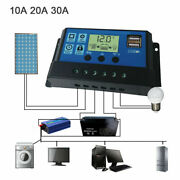 Us Solar Panel Regulator Pwm Charge Controller Charger Auto 30a 12v/24v Dual Usb