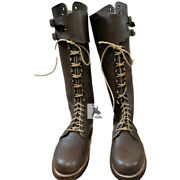 Wwii German Sa Kampfzeit Tall Boots With Hobnails Size Us 6 To Us 15