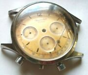 Vintage Case Chronograph Gigandet-dial And Stainless Steel Valjoux 72