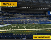 2 Front Row Jacksonville Jaguars At Indianapolis Colts Tickets Sec 116 Row 1