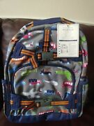 Pottery Barn Kids Brody Transportation Large Backpack Nwt Car Airplane Truck New