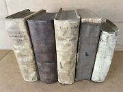 Collection Of 16th And 18th Century Latin And Dutch Vellum Bound Books