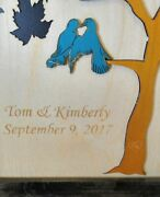 Framed Custom Maple Tree Guest Book Alternative Wood Signing Puzzle
