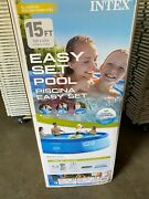 Intex 15ft X 42in Easy Set Pool Set With Filter Pump Ladder Cloth And Cover 15x42