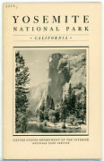 Ad1-e 1934 Yosemite National Park Booklet 43 Pages Dept Interior 114a