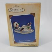 Frosty Friends Collector's Series 2004 Hallmark Ornament Penguin Ice Candy Cane