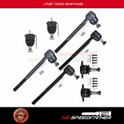 4x Inner Outer Tie Rods 4x Upper Lower Ball Joints For Buick Skylark And Special
