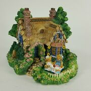 Cherished Teddies Village Sculpture Collection A Picnic For Two Enesco Afgx8