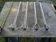 Set Of 4 Schaefer Lifeline Stanchions From An Oday Sailboat