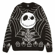Mens The Nightmare Before Christmas Knitted Jumper Jack Web Official Disney
