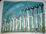 Us Government Surplus 12pc Sae Combination Wrench Set 1/4 - 1