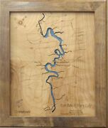 Fort Patrick Henry Lake Tennessee - Laser Cut Wood Map