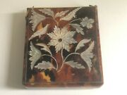 Antique Victorian Mother Of Pearl Decorated Calling Card Case.
