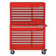 Westward 7cx92 42w Tool Chest And Cabinet Combination 24 Drawers Red 60-1/2h