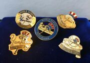 New York Yankees World Series Press Pin Collection 35th,36th,37th,38th, 39th