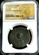 976 -1035 Ad Byzantine Empire Ae Follis Christ Bust Coin Class A2 Ngc Certified
