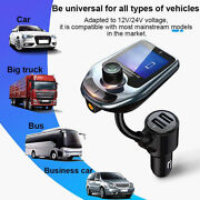 Bt Fm Transmitter Car Audio Adapter Mp3 Player Hands Free Dual Usb Fast Charger