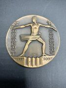 """1933 Chicago Int'l Expo """"a Century Of Progress"""" Research Industry Medallion"""