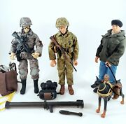 Hasbro Gi Joe 1996 3x Action Figures And Accessories Lot Authentic
