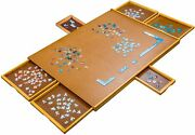 1500 Pieces Jigsaw Puzzles Puzzle Board Wooden Table Storage Tray Game 34 X 26