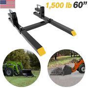 1500lbs Tractor Pallet Forks Clamp On Skid Steer Bucket 60 Quick Attach Forks