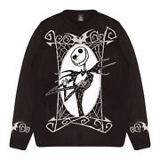 Mens The Nightmare Before Christmas Knitted Jumper Jack Portrait Official Disney
