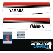 Yamaha 4hp 2 Stroke Outboard Engine Decals/sticker Kit Early 80and039s
