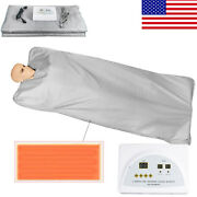 Far Infrared Thermal Sauna Blanket Heating Therapy Slim Weight Loss Detox Spa Us