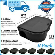 Mouse Bait Stations Small Rat Trap Alternative 4-pack Rodent Traps Bait Station
