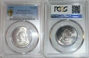 Rare 1890 Uncirculated Silver Coin One Rupie/rupee German East Africa Pcgs Ms64
