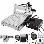 4 Axis 1000w Usb Mach3 Cnc 6040 Router Engraving Milling Machine Woodworking Diy