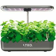 Lyko 12pods Indoor Herb Garden Kit Hydroponics Growing System W/t Led Grow Light