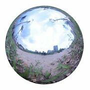 Durable Stainless Steel Gazing Ball, Hollow Ball Mirror Globe Polished Shiny New