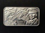1977 Lincoln Mint General Henry H. Arnold Silver Art Bar History Of Wwii P1658