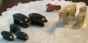 Arcor Safe Play Toys Early 1950s Rubber Cows And Pigs
