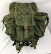Lc-1 Large Alice Field Pack Backpack W/ Metal Frame Belt Us Military