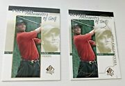 2001 Sp Authentic 51 Tiger Woods Rookie Error Missing Woods Overstamped Gold